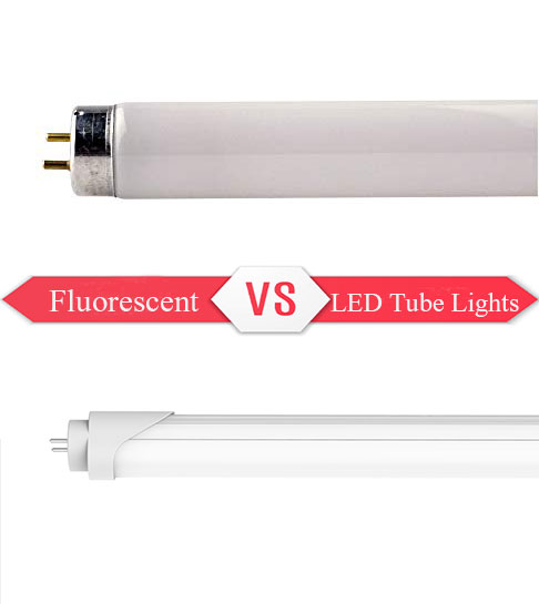 LED Tube Lights VS Fluorescent