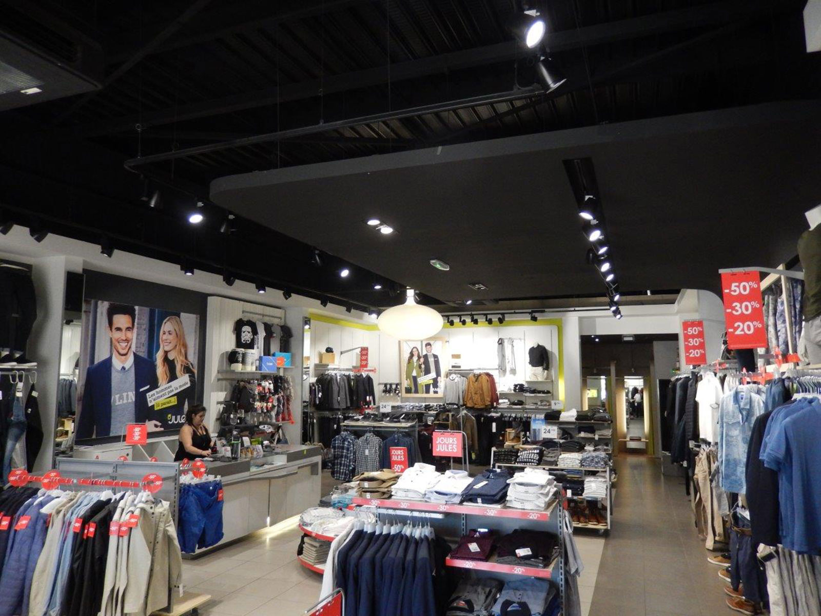 Men's Clothing Retail Store Lighting