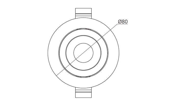 2 5 Inch 5w Recessed Led Downlights
