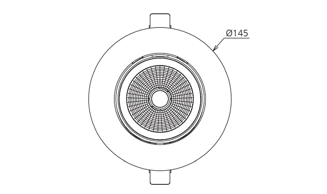 led downlight with 130mm cutout
