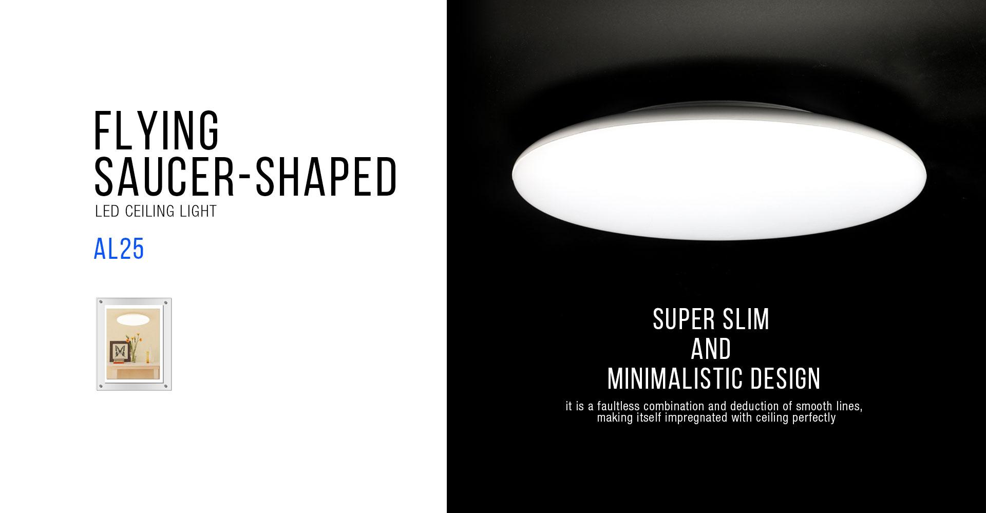 Al25 led ceiling light upshine lighting al25 flying saucer shaped led ceiling light01 arubaitofo Images