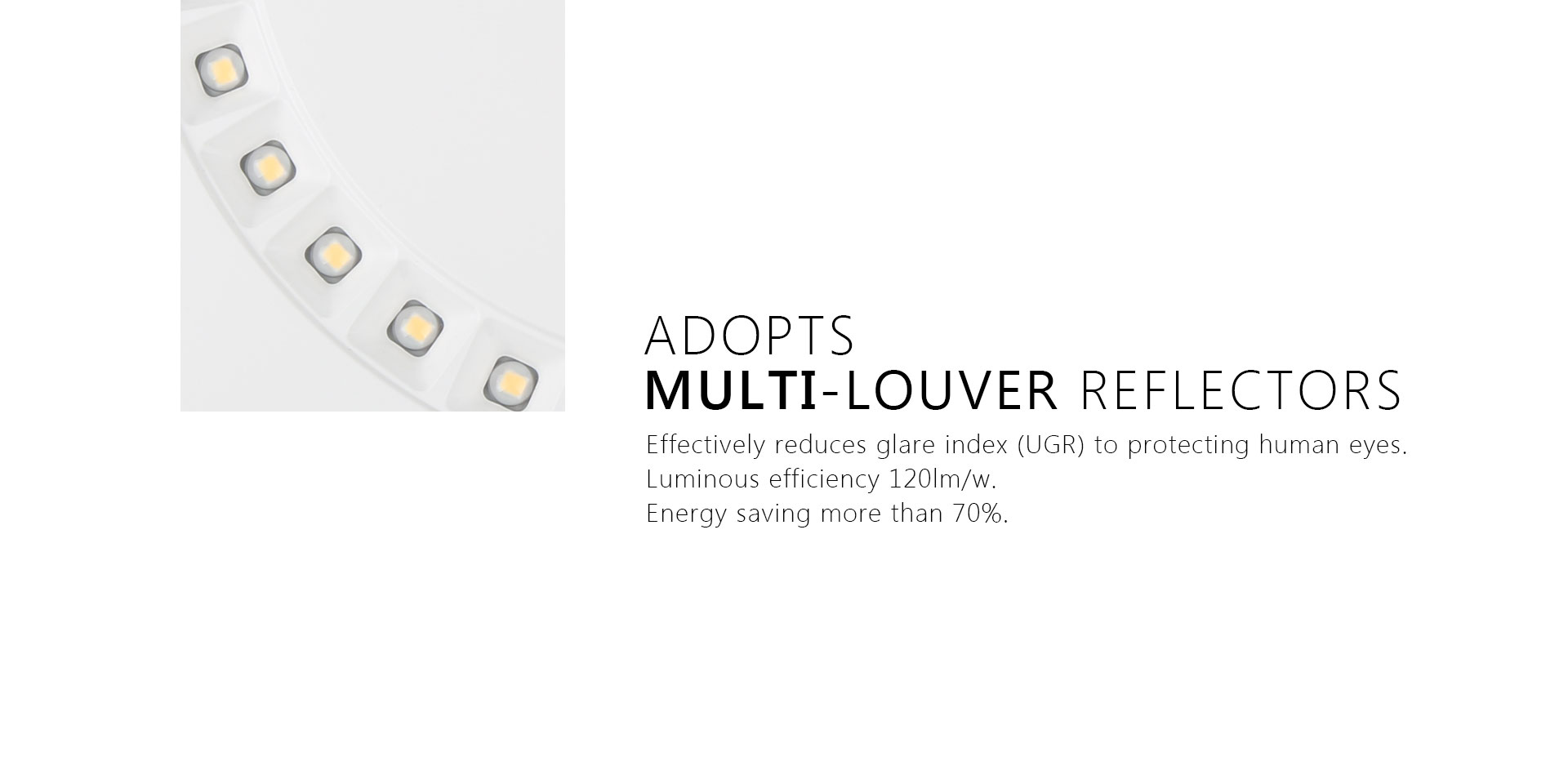 LED Ceiling Light With Multilouver Reflectors_02