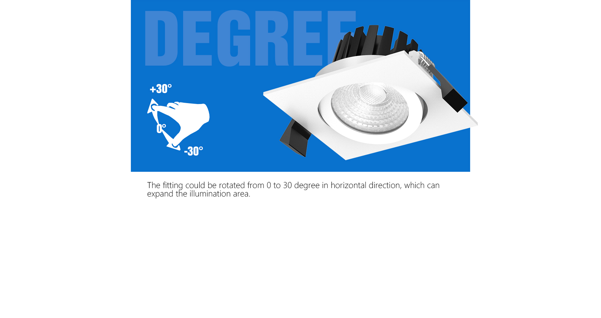 Adjustable LED recessed Downlighting_03