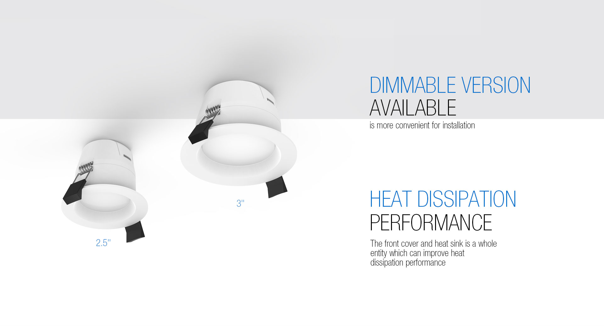 Heat Dissipation Dimmable LED Downlights_04