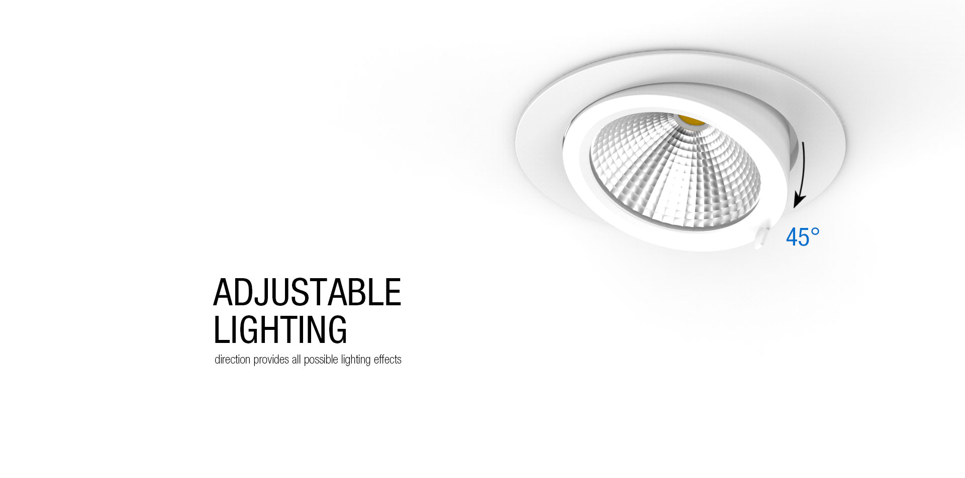 Dl31 Adjustable Cob Led Downlight Upshine Lighting