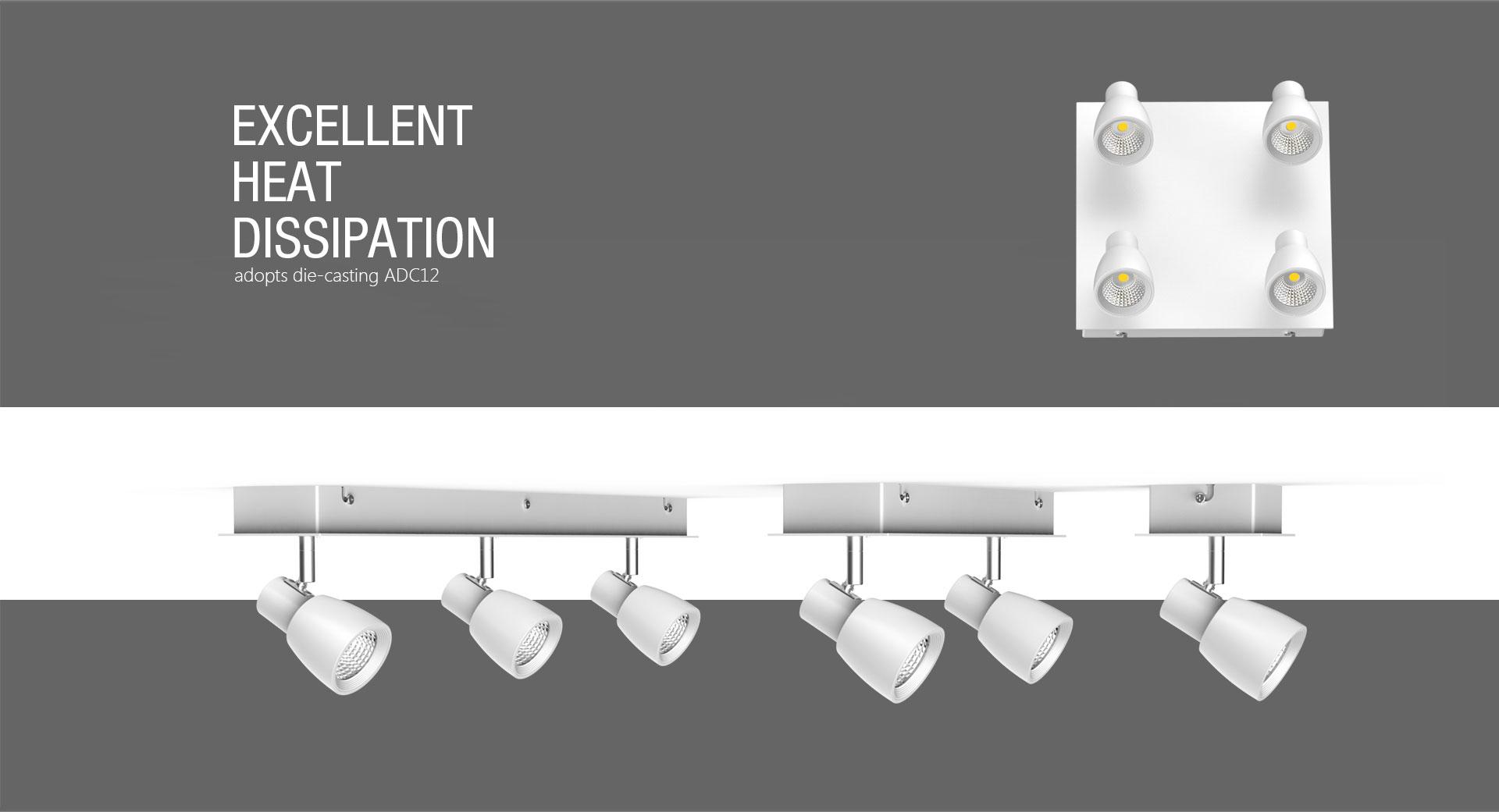 Tl15 Multi Head Recessed Led Track Light Upshine Lighting