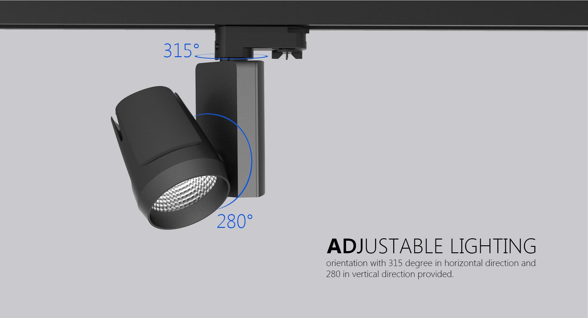 Tl25 led track light upshine lighting adjustable led track lighting03 aloadofball Images