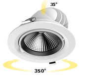 adjustable recessed cob led downlight