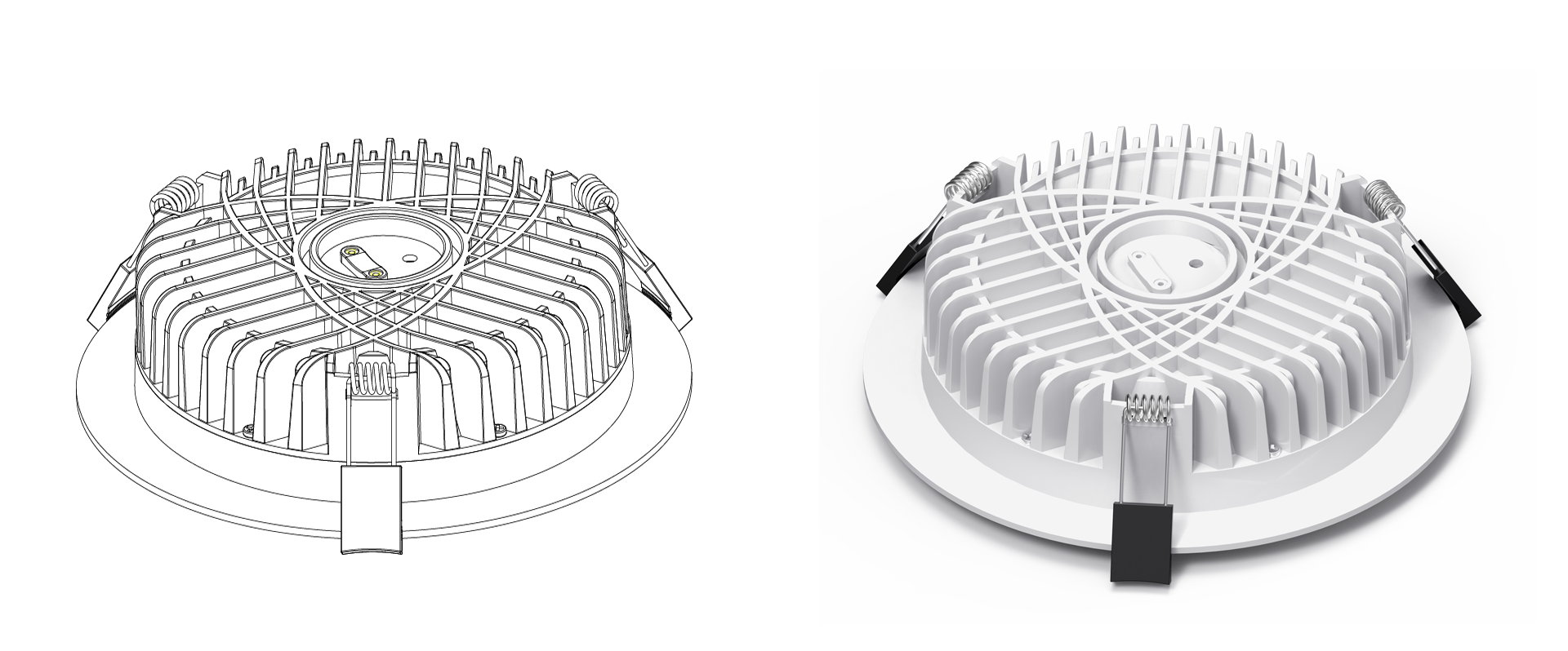 Dimmable LED Downlights Heat Sink
