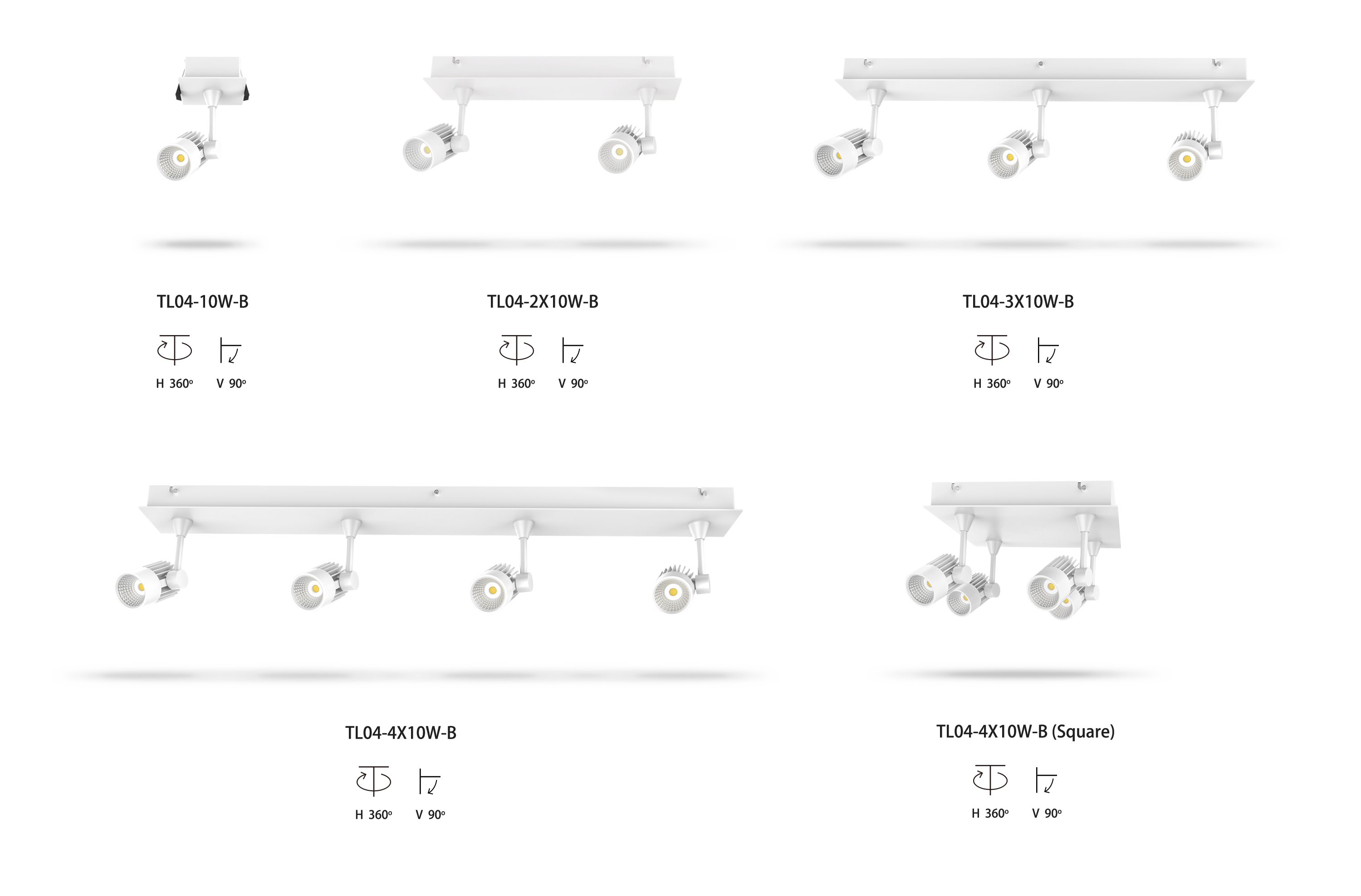 recessed LED track light kits