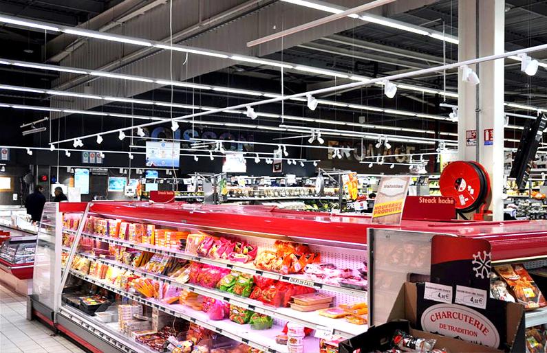Supermarket LED Track Lighting