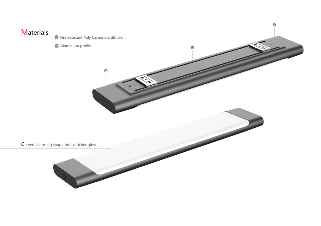 DB05 LED Batten Materials