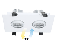 COB Rectangular LED Downlight
