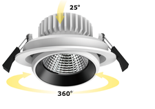 adjustable dimmable cob mini led downlight