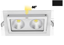 ip65 rectangular cob led downlight