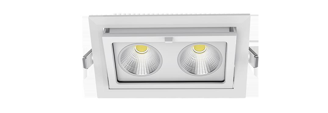 Rectangular COB IP65 LED Downlight