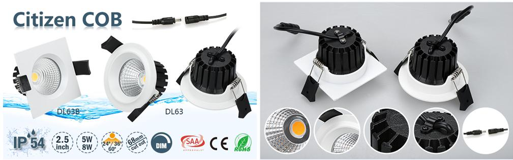 sunset dimming IP54 2.5inch 3inch led downlight