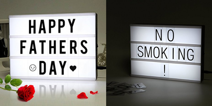 Cinematic Light Box with Letters and LED Light