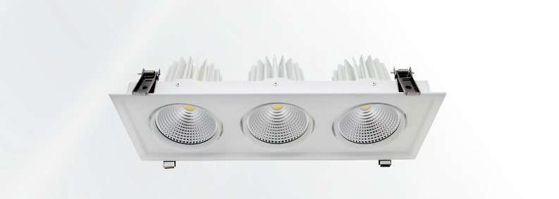 High Power 90 wattage LED Downlight with Triple Head