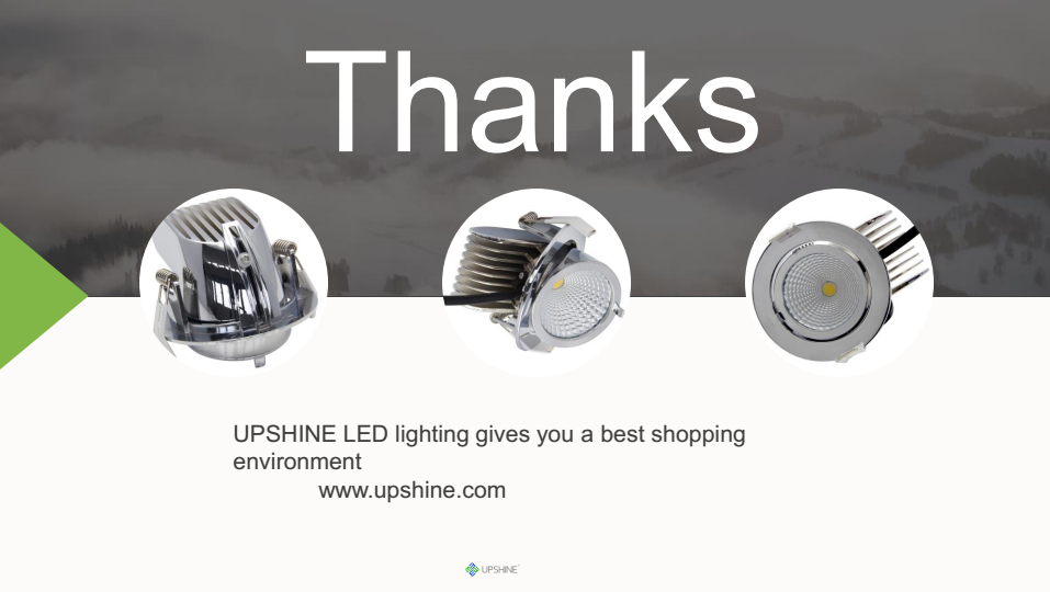 LED downlight with high quality