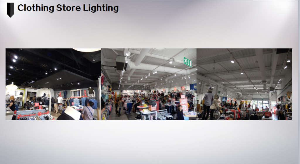 clothing store lighting case