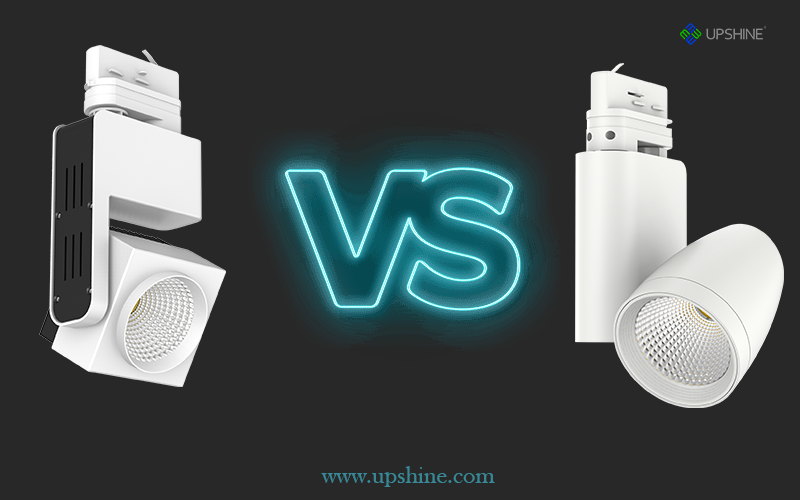 Upshine Round LED Track Light VS Square LED Track Light